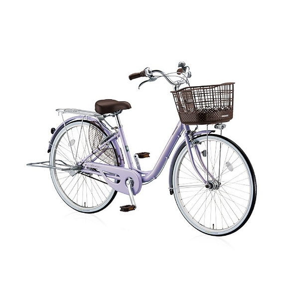 【送料無料】 ブリヂストン 26型 自転車 アルミーユ ベルト(P.Xオパールラベンダー/シングル) AU60BT【2017年/点灯虫・ベルトドライブモデル】【組立商品につき返品不可】 【代金引換配送不可】