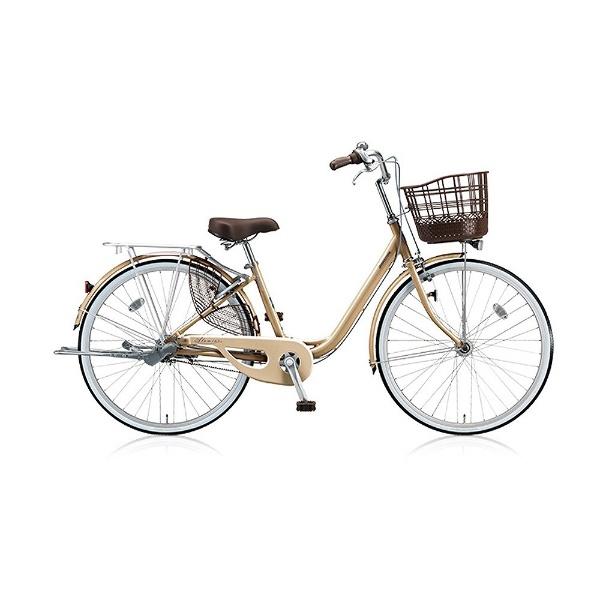【送料無料】 ブリヂストン 26型 自転車 アルミーユ ベルト(M.Xプレシャスベージュ/シングル) AU60BT【2017年/点灯虫・ベルトドライブモデル】【組立商品につき返品不可】 【代金引換配送不可】