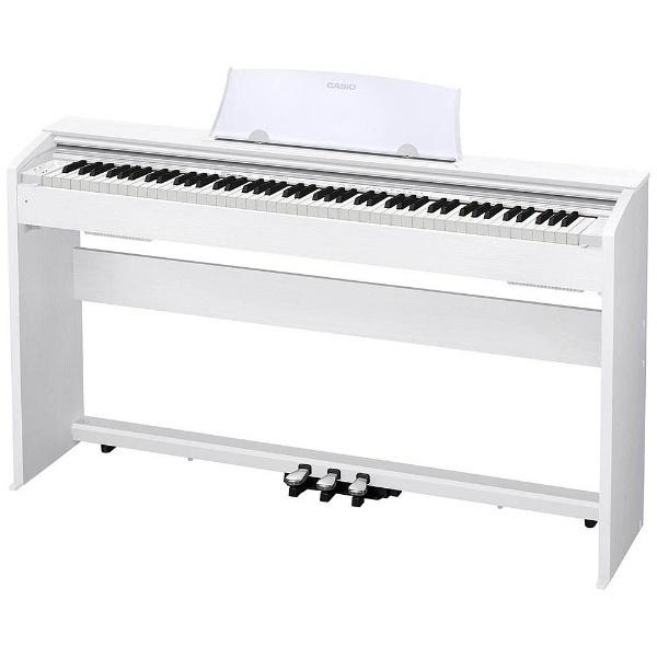 【送料無料】 カシオ 【エントリーでポイント10倍  9/26 9:59まで】PX-770WE 電子ピアノ Privia ホワイトウッド調 [88鍵盤] 【メーカー直送・代金引換不可・時間指定・返品不可】