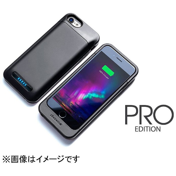 【送料無料】 PHONESUIT iPhone 7用 Elite PRO 3000mAh 大容量バッテリー内蔵ケース ブラック MFi認証 PS-ELITE-IP7-PRO-BLK