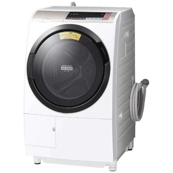【標準設置費込み】 日立 HITACHI [左開き] ドラム式洗濯乾燥機 (洗濯11.0kg/乾燥6.0kg)「ヒートリサイクル 風アイロン ビッグドラム」 BDSV110BL-Nシャンパン 【洗濯槽自動お掃除・ヒーター乾燥機能付】[BDSV110BL_N]