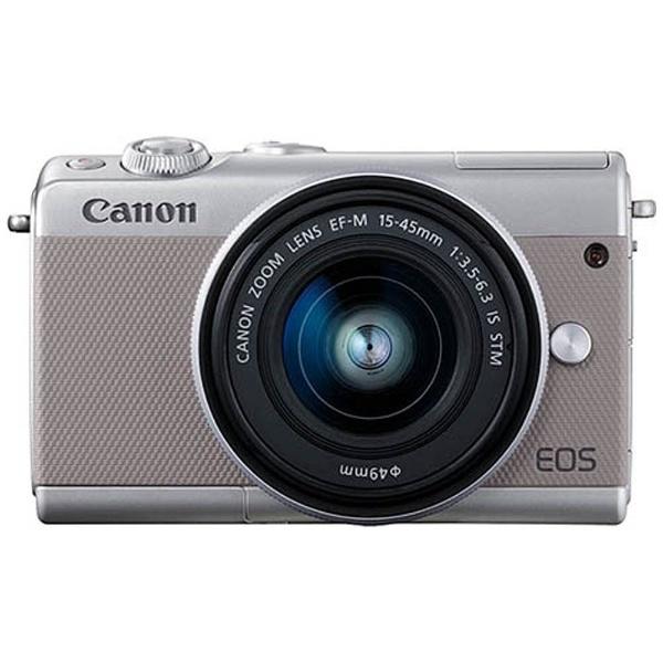 【送料無料】 キヤノン CANON 【10%OFFクーポン 8/4 18:00 ~ 8/5 23:59】EOS M100【EF-M15-45 IS STM レンズキット】(グレー/ミラーレス一眼カメラ)[EOSM100GY1545ISSTMLK]