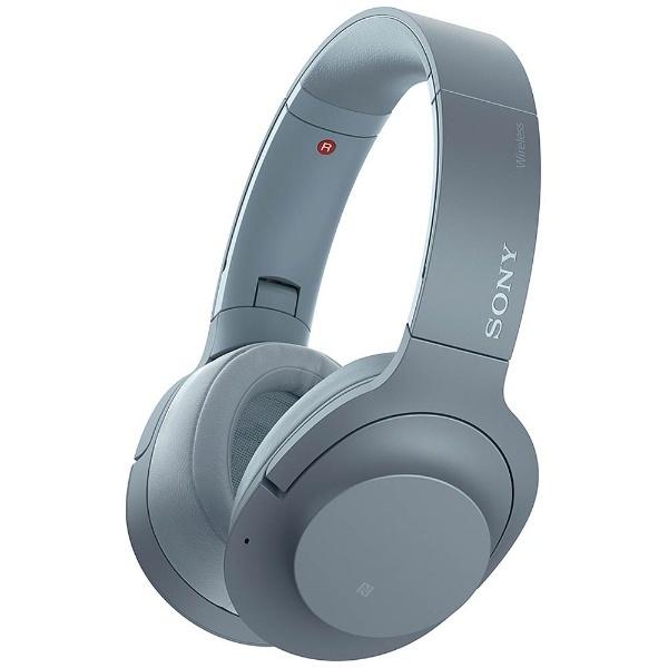 【送料無料】 ソニー SONY ブルートゥースヘッドホン h.ear on 2 Wireless NC WH-H900N LM ムーンリットブルー [ハイレゾ対応 /Bluetooth /ノイズキャンセル対応][WHH900NLM]
