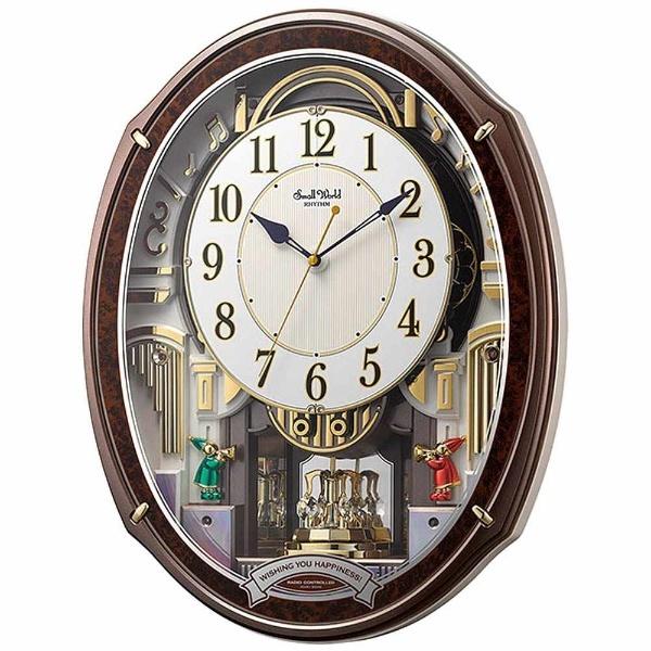 【送料無料】 リズム時計 RHYTHM 電波からくり時計 「スモールワールドアルディ」 4MN545RH23