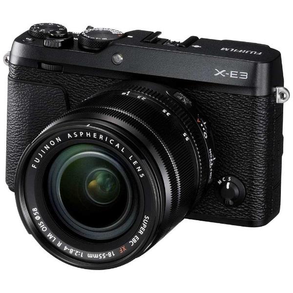 【送料無料】 フジフイルム FUJIFILM FUJIFILM X-E3【レンズキット】(ブラック/ミラーレス一眼カメラ)[FXE3LKB]