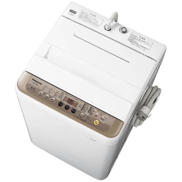 【標準設置費込み】 パナソニック Panasonic NA-F60PB11-T 全自動洗濯機 ブラウン [洗濯6.0kg /乾燥機能無 /上開き][NAF60PB11T] panasonic