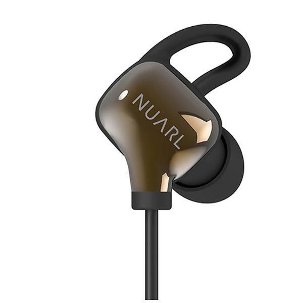 【送料無料】 NUARL ブルートゥースイヤホン カナル型 [マイク付] (ブラックゴールド)NB10R2-BG