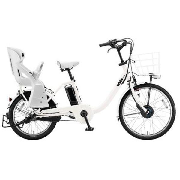【送料無料】 ブリヂストン 24/20型 電動アシスト自転車 bikke MOB dd(E.XBKホワイト/内装3段変速) BM0B48 【2018年モデル】【組立商品につき返品不可】 【代金引換配送不可】