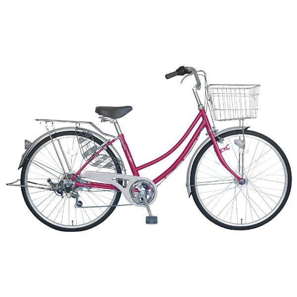 【送料無料】 MARUKIN 26型 自転車 CPH266-K(ダークピンク/6段変速) MK-18-023【組立商品につき返品不可】 【代金引換配送不可】【メーカー直送・代金引換不可・時間指定・返品不可】