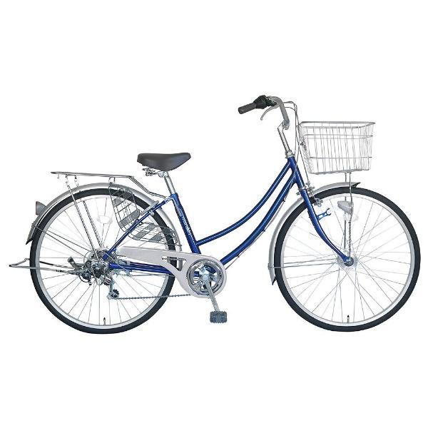【送料無料】 MARUKIN 27型 自転車 CPH276-K(ダークブルー/6段変速) MK-18-025【組立商品につき返品不可】 【代金引換配送不可】【メーカー直送・代金引換不可・時間指定・返品不可】
