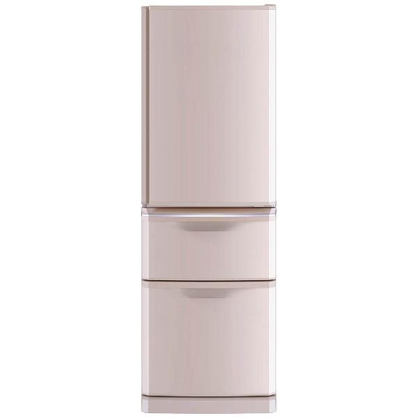 【標準設置費込み】 三菱 Mitsubishi Electric 【10%OFFクーポン 8/4 18:00 ~ 8/5 23:59】MR-C37C-P 冷蔵庫 シャンパンピンク [3ドア /右開きタイプ /370L][MRC37C_P]