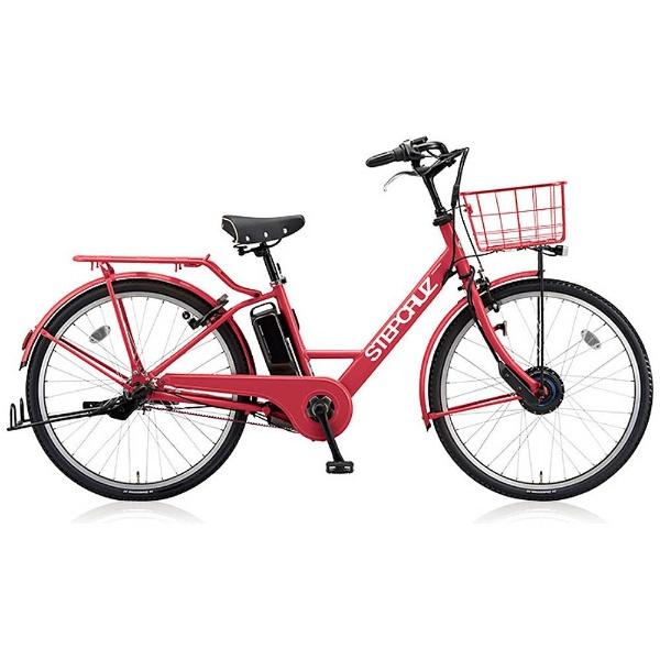 【送料無料】 ブリヂストン 26型 電動アシスト自転車 STEP CRUZ e(E.Xチェリーローズ/内装3段変速) ST6B48 【2018年モデル】【組立商品につき返品不可】 【代金引換配送不可】