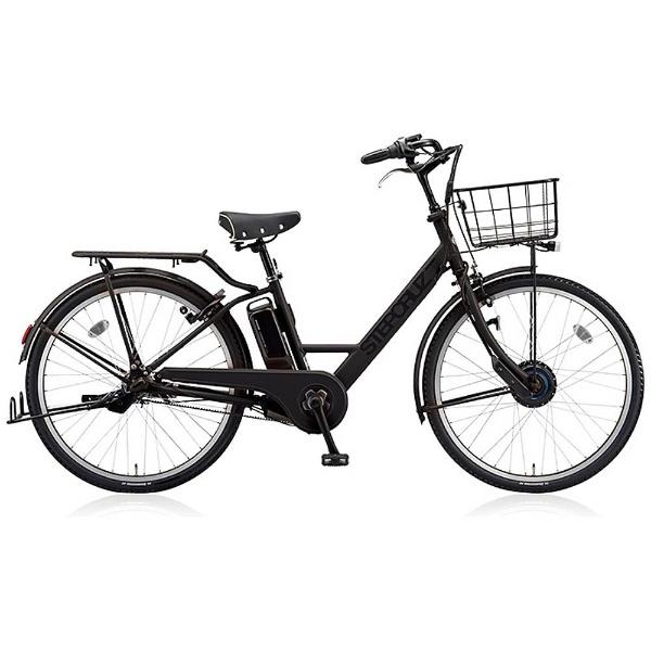 【送料無料】 ブリヂストン 26型 電動アシスト自転車 STEP CRUZ e(T.Xクロツヤケシ/内装3段変速) ST6B48 【2018年モデル】【組立商品につき返品不可】 【代金引換配送不可】