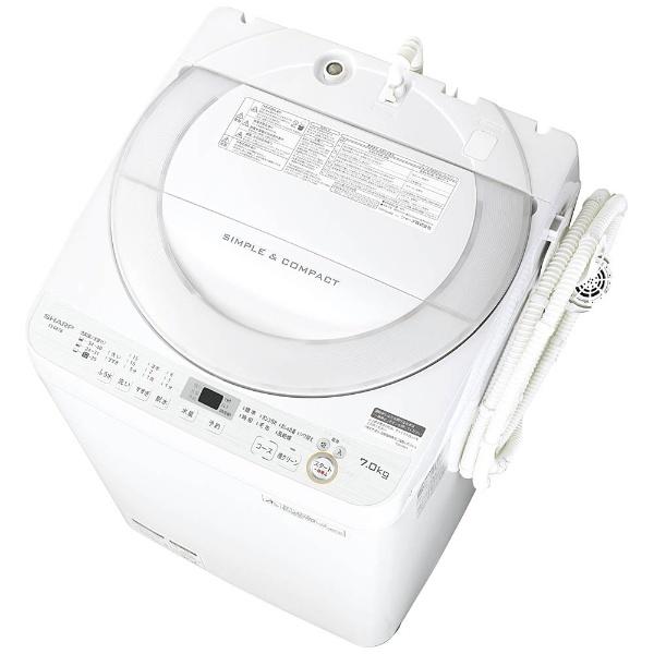 【標準設置費込み】 シャープ SHARP ES-GE7B-W 全自動洗濯機 ホワイト系 [洗濯7.0kg /乾燥機能無 /上開き]