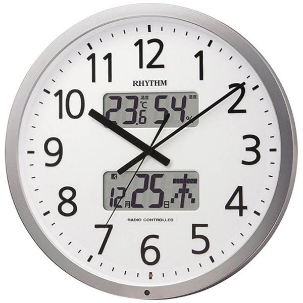 【送料無料】 リズム時計 電波掛け時計 「プログラムカレンダー403SR」 4FN403SR19