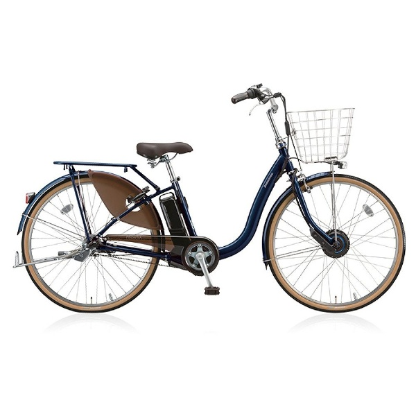 【送料無料】 ブリヂストン 26型 電動アシスト自転車 フロンティア デラックス(E.Xノーブルネイビー/内装3段変速) F6DB38【2018年モデル】【組立商品につき返品不可】 【代金引換配送不可】