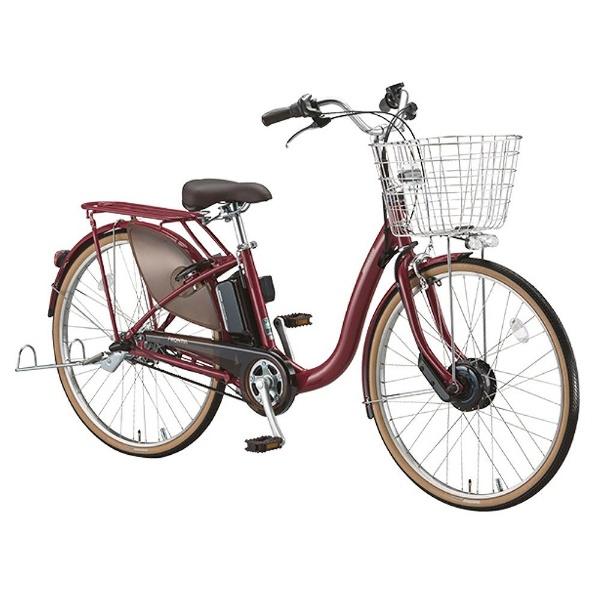 【送料無料】 ブリヂストン 24型 電動アシスト自転車 フロンティア デラックス(F.Xベルベットローズ/内装3段変速) F4DB38【2018年モデル】【組立商品につき返品不可】 【代金引換配送不可】