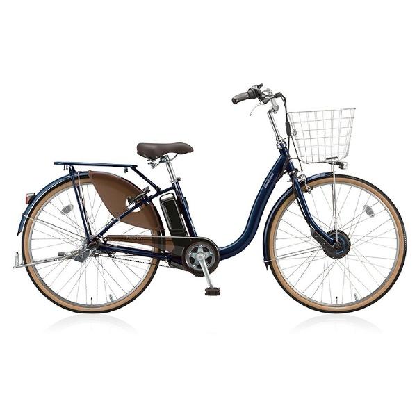 【送料無料】 ブリヂストン 24型 電動アシスト自転車 フロンティア デラックス(E.Xノーブルネイビー/内装3段変速) F4DB38【2018年モデル】【組立商品につき返品不可】 【代金引換配送不可】