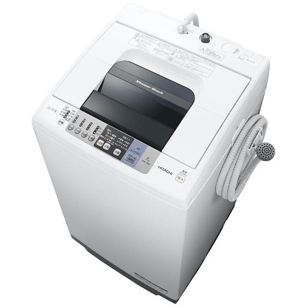【標準設置費込み】 日立 HITACHI 全自動洗濯機 (洗濯7.0kg)「白い約束」 NW-70B-W[NW70B_W]