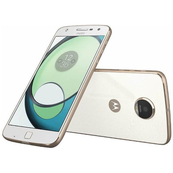 【送料無料】 モトローラ Moto Z Play 32GBホワイト「AP3787AD1J4」 Snapdragon 625 5.5型・メモリ/ストレージ:3GB/32GB nano×2 ドコモ/ソフトバック/Ymobile SIM対応 DSDS対応 SIMフリースマートフォン[AP3787AD1J4][s-ksale]