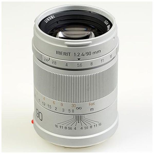 【送料無料】 KIPON カメラレンズ IBERIT 90mm/f2.4【ソニーEマウント】(シルバー)