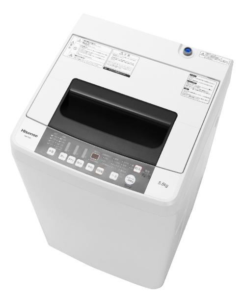 【標準設置費込み】 ハイセンス Hisense HW-T55C 全自動洗濯機 ホワイト [洗濯5.5kg /乾燥機能無 /上開き][HWT55C] [一人暮らし 単身 単身赴任 新生活 家電]