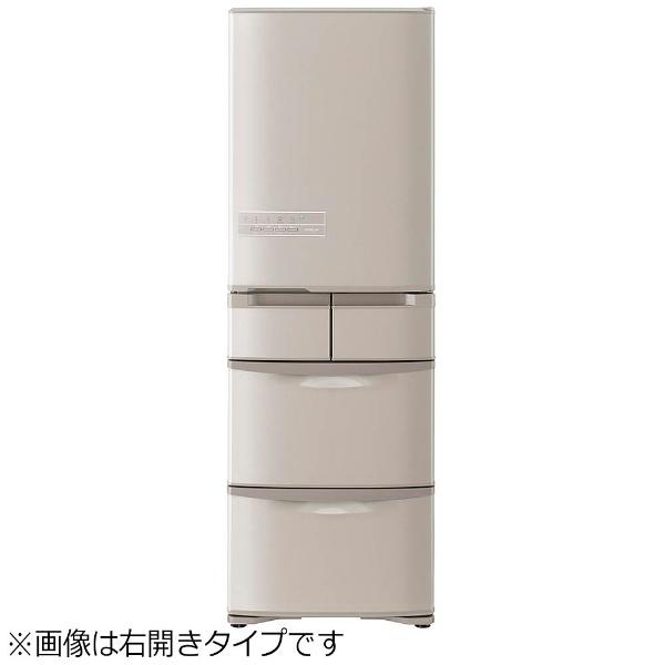 【標準設置費込み】 日立 HITACHI 《基本設置料金セット》RK40H-LT 冷蔵庫 Kシリーズ ソフトブラウン [5ドア /左開きタイプ /401L]