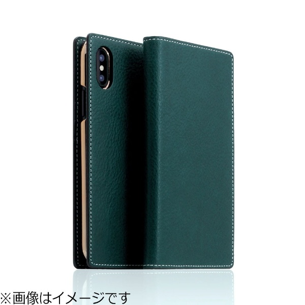 【送料無料】 ROA iPhone X用 手帳型レザーケース Minerva Box Leather Case ブルー SD10513I8