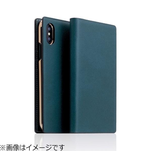 【送料無料】 ROA iPhone X用 手帳型レザーケース Buttero Leather Case ブルー SD10510I8