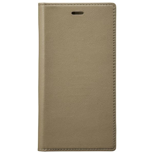 【送料無料】 坂本ラヂヲ iPhone X用 手帳型レザーケース Full Leather Case トープ GLC70317TPE