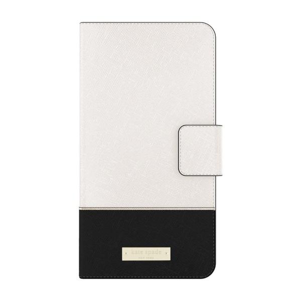 【送料無料】 INCIPIO iPhone 8 Plus 手帳型 katespade Colorblock Folio Case ブラック/ゴールド KSIPH086CBCMT
