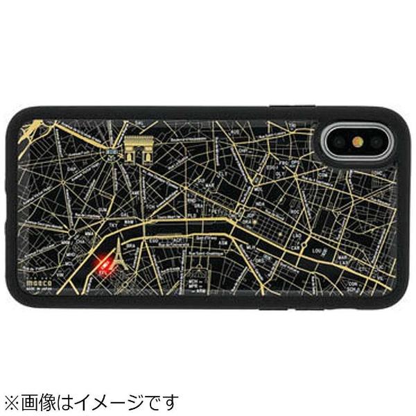 【送料無料】 電子技販 iPhone X用 FLASH PARIS回路地図ケース 黒 PX050B