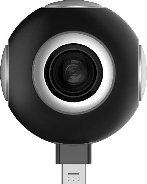 【送料無料】 ASUS エイスース スマートフォン対応[Android Type-C/microUSB] ASUS 360°Camera 90AC02G0-BMK002 ブラック