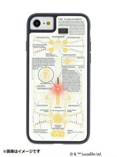 【送料無料】 電子技販 iPhone 8用 STAR WARS FLASH X-WING 基板アートケース 白 P7060W