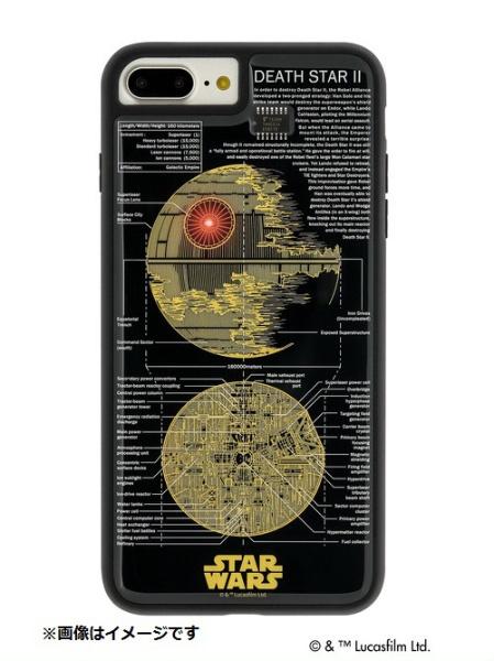 【送料無料】 電子技販 iPhone 8 Plus用 STAR WARS FLASH デス・スター 基板アートケース 黒 P7P070B