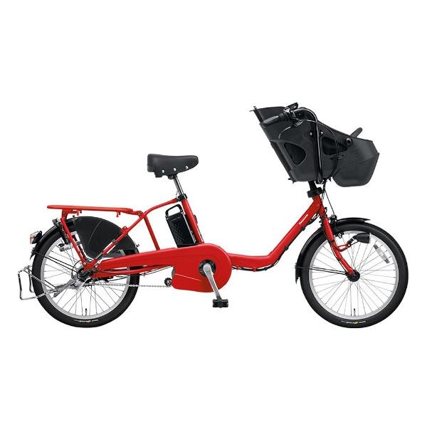 【送料無料】 パナソニック Panasonic 20型 電動アシスト自転車 ギュット・ミニ・DX(ロイヤルレッド/内装3段変速) BE-ELMD034R2【2018年モデル】【組立商品につき返品不可】 【代金引換配送不可】