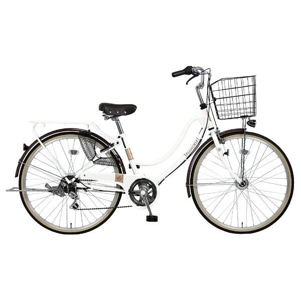 【送料無料】 ホダカ 27型 自転車 フロートミックス276-K(ホワイト/シングルシフト)【組立商品につき返品不可】 【代金引換配送不可】【メーカー直送・代金引換不可・時間指定・返品不可】