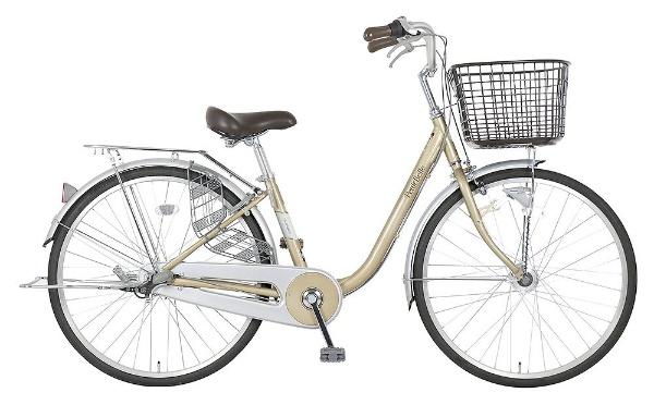 【送料無料】 ホダカ 26型 自転車 プチベル263-K(l-ゴールド/内装3段変速)【組立商品につき返品不可】 【代金引換配送不可】【メーカー直送・代金引換不可・時間指定・返品不可】
