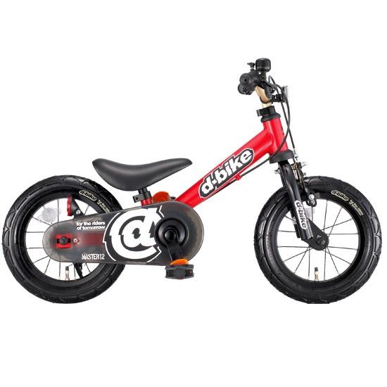 【送料無料】 アイデス 12型 ランニングバイク D-Bike Master(レッド) 3392【組立商品につき返品不可】 【代金引換配送不可】【メーカー直送・代金引換不可・時間指定・返品不可】