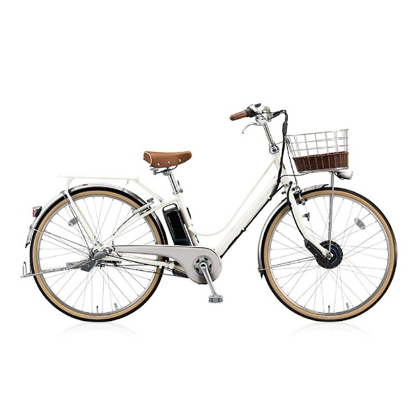 【送料無料】 ブリヂストン 26型 電動アシスト自転車 カジュナe ベーシックライン(E.XBKホワイト/内装3段変速) CB6B48【2018年モデル】【組立商品につき返品不可】 【代金引換配送不可】