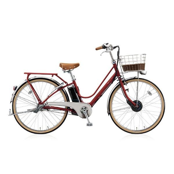 【送料無料】 ブリヂストン 26型 電動アシスト自転車 カジュナe ベーシックライン(E.Xモダンレッド/内装3段変速) CB6B48【2018年モデル】【組立商品につき返品不可】 【代金引換配送不可】