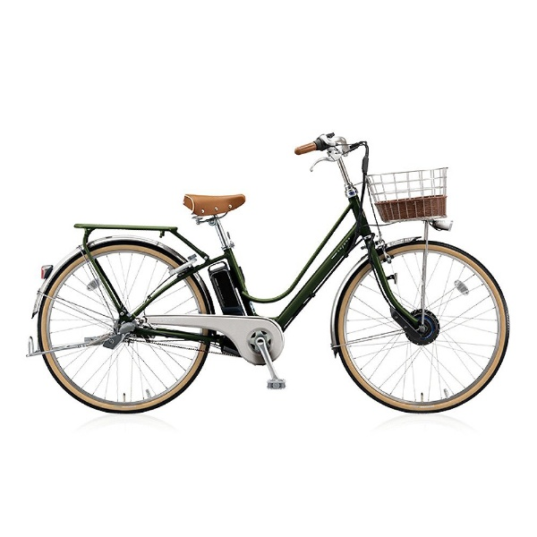 【送料無料】 ブリヂストン 26型 電動アシスト自転車 カジュナe ベーシックライン(E.Xダークオリーブ/内装3段変速) CB6B48【2018年モデル】【組立商品につき返品不可】 【代金引換配送不可】