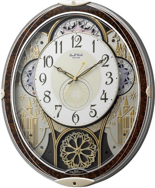 【送料無料】 リズム時計 RHYTHM 電波からくり時計 「スモールワールドノエルN」 4MN539RH23
