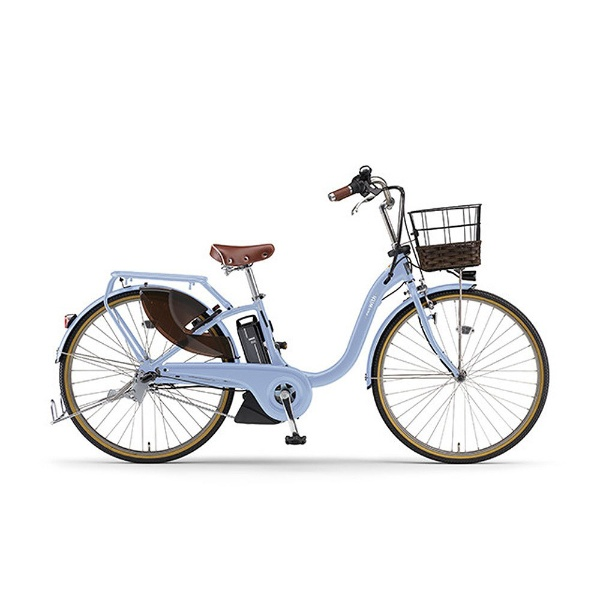 【送料無料】 ヤマハ 24型 電動アシスト自転車 PAS With DX(グレイッシュブルー/内装3段変速) 18PA24WDX【2018年モデル】【組立商品につき返品不可】 【代金引換配送不可】