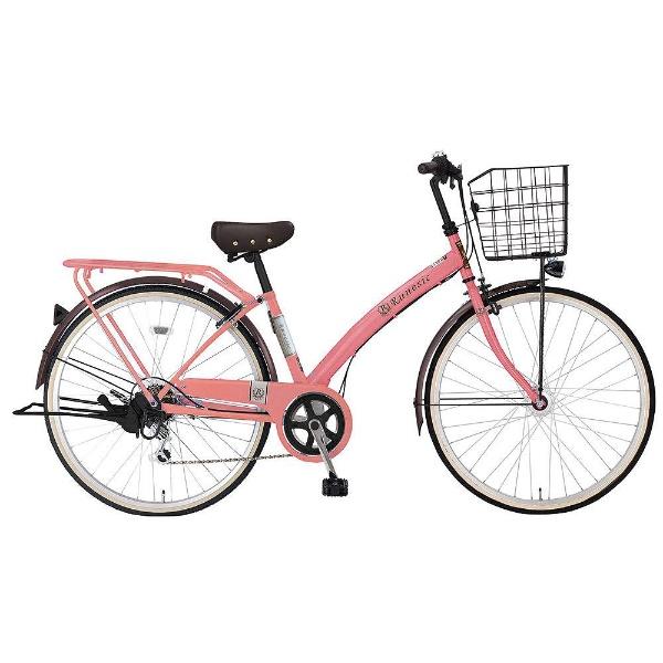 【送料無料】 MARUKIN 27型 自転車 ルネシック276-K(ピンク/6段変速)【組立商品につき返品不可】 【代金引換配送不可】【メーカー直送・代金引換不可・時間指定・返品不可】
