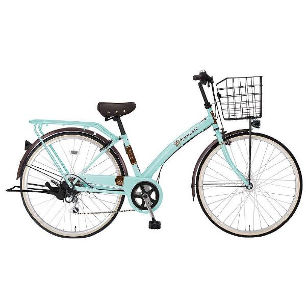 【送料無料】 MARUKIN 27型 自転車 ルネシック276-K(l-グリーン/6段変速)【組立商品につき返品不可】 【代金引換配送不可】【メーカー直送・代金引換不可・時間指定・返品不可】