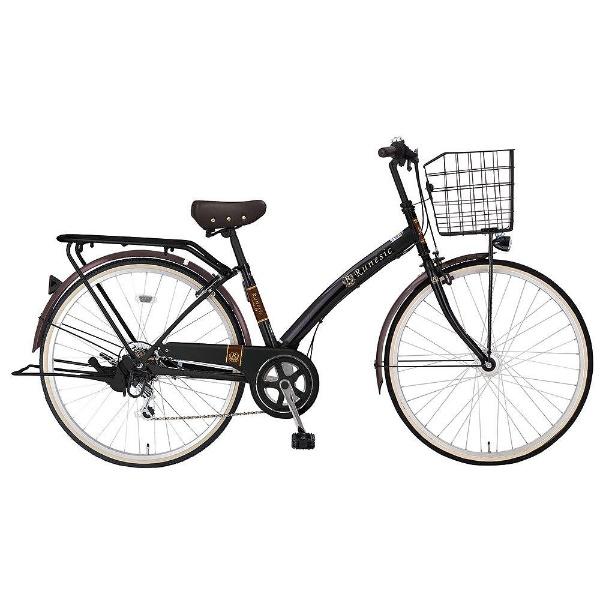 【送料無料】 MARUKIN 27型 自転車 ルネシック276-K(ブラック/6段変速)【組立商品につき返品不可】 【代金引換配送不可】【メーカー直送・代金引換不可・時間指定・返品不可】