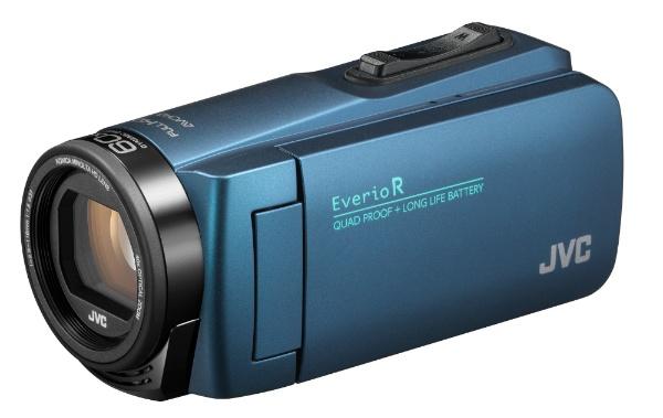 【送料無料】 JVC ジェイブイシー SD対応 32GBメモリー内蔵 防水・防塵・耐衝撃フルハイビジョンビデオカメラ(ネイビーブルー) GZ-R480-A[GZR480A]