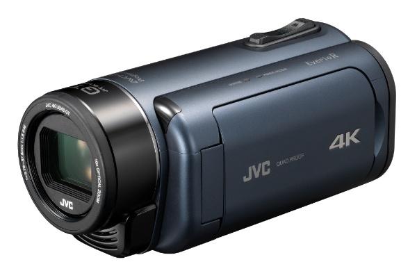 【送料無料】 JVC ジェイブイシー ダブルSDスロット搭載 防水・防塵・耐衝撃4Kビデオカメラ(ディープオーシャンブルー) GZ-RY980-A[GZRY980A]