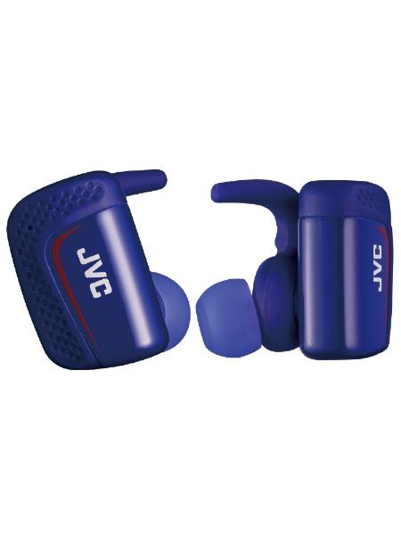 【送料無料】 JVC ジェイブイシー フルワイヤレスイヤホン HA-ET900BT-A ブルー [防滴&左右分離タイプ /Bluetooth]